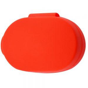 Силиконовый чехол для наушников + карабин для Xiaomi AirDots 3 – Красный / Red