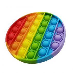 Антистресс игрушка Pop It Bubble Dimbl (Поп-ит) – Разноцветный круг