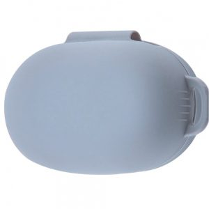 Силиконовый чехол для наушников + карабин для Xiaomi AirDots 3 – Серый / Lavender Gray
