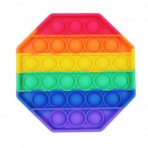 Антистресс игрушка Pop It Bubble Dimbl (Поп-ит) – Восьмиугольник Rainbow