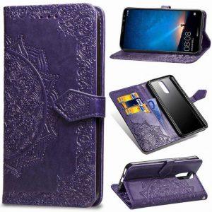 Кожаный чехол-книжка Art Case с визитницей для Huawei Mate 10 Lite – Фиолетовый