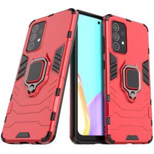 Ударопрочный чехол Transformer Ring под магнитный держатель для Samsung Galaxy A72 – Красный / Dante Red