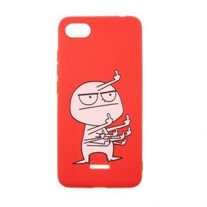 Силиконовый TPU чехол TOTO Pure Print Case с рисунком для Xiaomi Redmi 6A  – FK9 Red