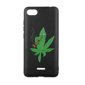 Силиконовый TPU чехол TOTO Pure Print Case с рисунком для Xiaomi Redmi 6A  – Cannabis Black