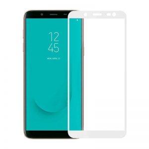 Защитное стекло 3D (5D) Full Glue Armor Glass на весь экран для Samsung Galaxy J6 2018 (J600) – White