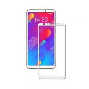 Защитное стекло 3D (5D) Full Glue Armor Glass на весь экран для Meizu M8 – White