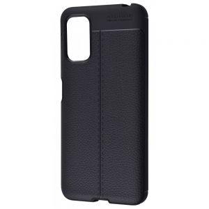 TPU чехол фактурный (с имитацией кожи) для Xiaomi Redmi Note 10 5G / Poco M3 Pro – Черный