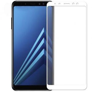 Защитное стекло 3D (5D) Full Glue Armor Glass на весь экран для Samsung Galaxy A6 Plus / J8 2018 – White