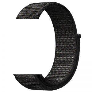 Ремешок Nylon для Xiaomi Amazfit GTS / Samsung 20 mm – Черный / Black
