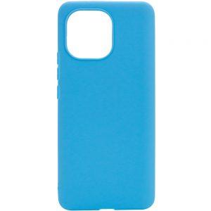 Матовый силиконовый TPU чехол для Xiaomi Mi 11 Lite – Голубой