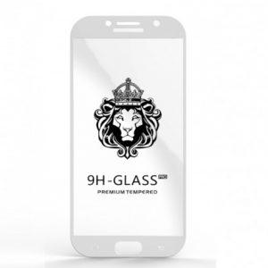 Защитное стекло 3D (5D) Perfect Glass Full Glue Lion на весь экран для Samsung Galaxy A7 2017 (A720) – White