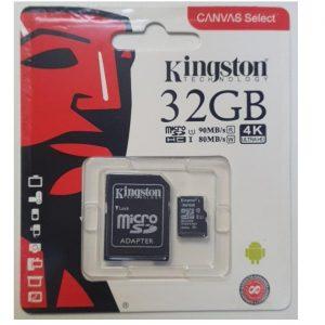 Карта памяти Kingston Micro SD 32GB Class HC-I 10 80/90 MB/S – Black