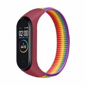 Ремешок Nylon для фитнес-браслета Xiaomi Mi Band 3 / 4 / 5 / 6 – Rainbow