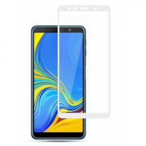 Защитное стекло 3D (5D) Full Glue Armor Glass на весь экран для Samsung Galaxy A7 2018 A750 – White