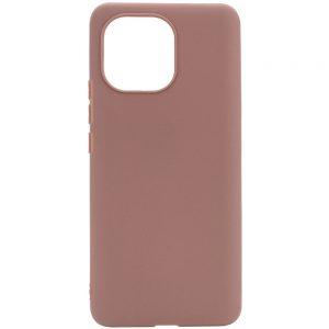 Матовый силиконовый TPU чехол для Xiaomi Mi 11 Lite – Коричневый
