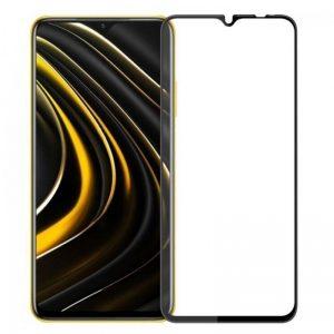 Защитное стекло Goldish Full 9H для Xiaomi Redmi 9 / 9T / Poco M3 – Black