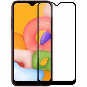 Защитное стекло Goldish Full 9H для Samsung Galaxy A01 / M01 – Black