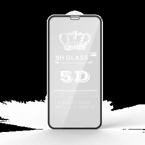 Защитное стекло 5D Full Glue Cover Glass на весь экран для Iphone X / XS / 11 Pro — Black