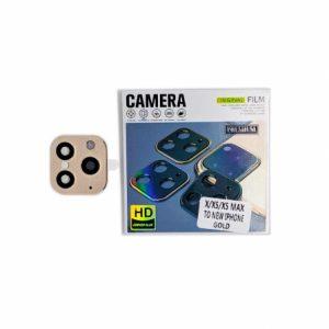 Защитное стекло на камеру с имитацией Iphone 11 Pro для Iphone X / XS / XS Max – Gold