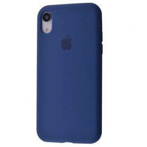 Оригинальный чехол Silicone Case 360 с микрофиброй для Iphone XR – Blue cobalt