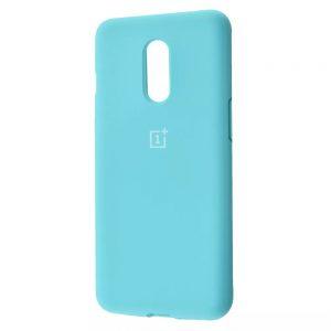 Оригинальный чехол Silicone Cover 360 с микрофиброй для OnePlus 7 – Turquoise
