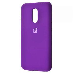Оригинальный чехол Silicone Cover 360 с микрофиброй для OnePlus 7 – Purple