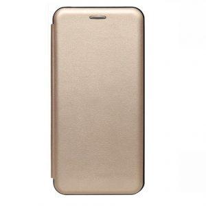 Кожаный чехол-книжка 360 с визитницей для Meizu M3s / M3 / M3 mini – Золотой