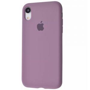 Оригинальный чехол Silicone Case 360 с микрофиброй для Iphone XR – Black currant