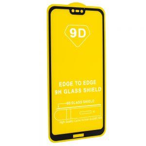 Защитное стекло 9D Full Glue Cover Glass на весь экран для Huawei P20 Lite — Black