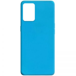 Матовый силиконовый TPU чехол для Oppo A74 – Голубой