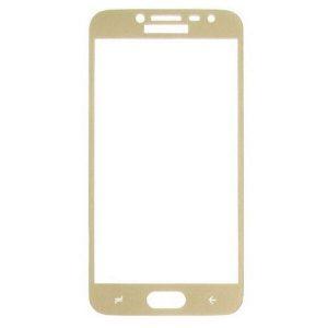 Защитное стекло 2.5D (3D) Full Cover на весь экран для Samsung Galaxy J2 / J2 Pro 2018 (J250) — Gold