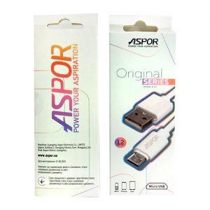 USB кабель Aspor A51 Original Cable MicroUSB 2A (1.2м) – White