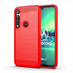 Cиликоновый TPU чехол Slim Series для Motorola Moto G8 Plus – Красный
