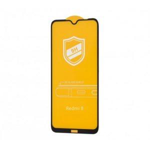 Защитное стекло 9H Full Glue на весь экран для Xiaomi Redmi 8 / 8A – Black
