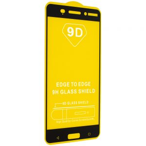 Защитное стекло 9D Full Glue Cover Glass на весь экран для Nokia 6 – Black