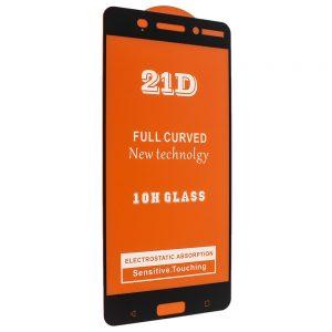 Защитное стекло 21D Full Glue Cover Glass на весь экран для Nokia 6 — Black