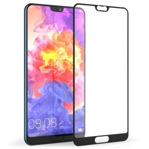 Защитное стекло 3D (5D) Perfect Glass Full Glue Lion на весь экран для Huawei P20 — Black