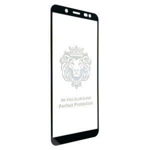 Защитное стекло 3D (5D) Perfect Glass Full Glue Lion на весь экран для Samsung Galaxy A6 2018 / J6 2018 / A8 2018 – Black