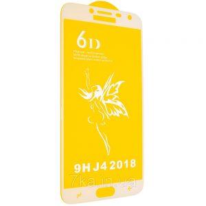 Защитное стекло 6D Premium для Samsung Galaxy J4 2018 (J400) – White