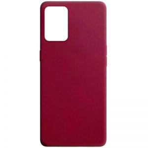 Матовый силиконовый TPU чехол для Oppo A74 – Бордовый