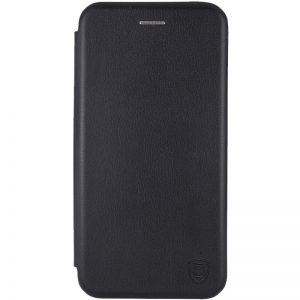 Кожаный чехол-книжка 360 с визитницей для Huawei P30 Pro – Черный