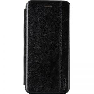 Кожаный чехол-книжка Leather Gelius для Nokia 5.4 – Black