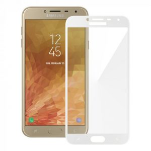 Защитное стекло 3D (5D) Perfect Glass Full Glue Lion на весь экран для Samsung Galaxy J4 2018 (J400) – White