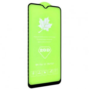 Защитное стекло 20D Full Glue на весь экран для Vivo Y15 / Y17 — Black