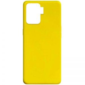 Матовый силиконовый TPU чехол для Oppo Reno 5 Lite – Желтый