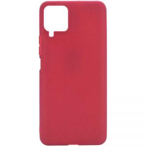 Матовый силиконовый TPU чехол для Samsung Galaxy A22 / M32 – Бордовый
