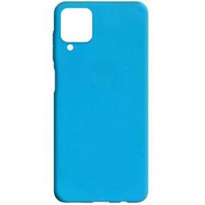 Матовый силиконовый TPU чехол для Samsung Galaxy A22 / M32 – Голубой