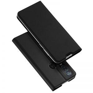 Чехол-книжка Dux Ducis с карманом для Motorola One Action — Черный