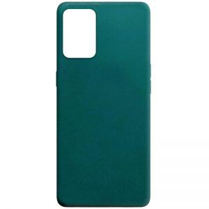 Матовый силиконовый TPU чехол для Oppo A74 – Зеленый / Forest green