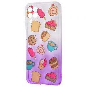 Чехол WAVE Sweet Acid Case для Samsung Galaxy A22 / M32  – White / Purple / Cake